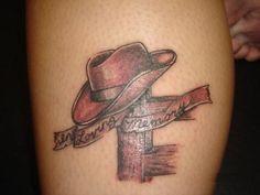 pictures of memorial tattoos   Memorial Tattoo On Leg