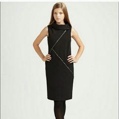 Michael Michael Kors Dress Black asymmetrical Michael Michael Kors Dress Black asymmetrical zipper in great condition MICHAEL Michael Kors Dresses