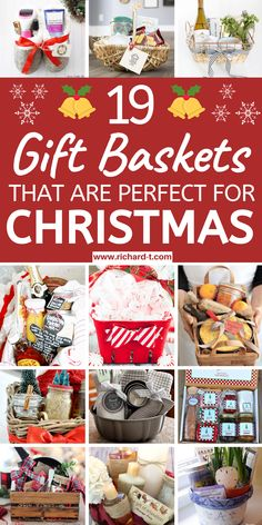19 DIY Christmas gift baskets that will make the perfect gift for friends and fa. 19 DIY Christmas gift baskets that will make the perfect gift for friends and family! These DIY Chr Diy Gifts For Christmas, Diy Christmas Baskets, Diy Gift Baskets, Christmas Gift Baskets, Holiday Gifts, Christmas Crafts, Raffle Baskets, Christmas Ideas, Christmas Stuff