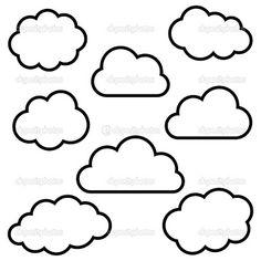 LANGUAGE ARTS: Printable cloud template | Templates | Pinterest ...
