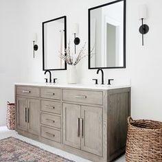 Home Decor Recibidor .Home Decor Recibidor Bathroom Wall Sconces, Master Bathroom, Black Bathroom Mirrors, Bathroom Shop, Wall Sconce Lighting, Bathroom Lighting, Outdoor Fireplaces, Rustic Bathroom Designs, Interiors