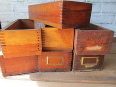 ONE Wooden Drawer Vintage Wedding Seating by TheVintageOrangeJar #vintageoffice