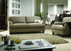 Neutral colours and varying textures in this relaxing living room | Featuring our Hobbs 3 Seater Sofa and Armchair by SofaSofa | http://www.sofasofa.co.uk/hobbs-3-seater-sofa.html#product-details