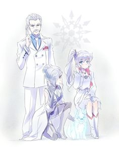 Weiss and Winter with their dad~ RWBY