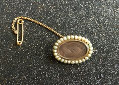 Gold Victorian Gold Hair Brooch Dated 1853 by victoriansentiments on Etsy