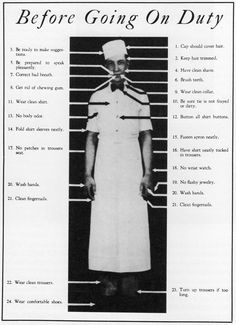 1931 checklist for White Castle employees