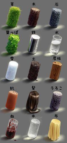 Materials/textures.