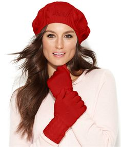 9f9971e9ffd31 Charter Club Cashmere Cable Knit Hat  amp  Gloves - Hats