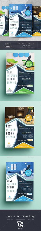 Real Estate Interior Design Flyer - Flyers Print Templates