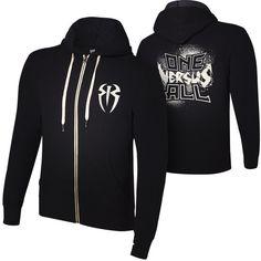 "Roman Reigns ""One Versus All"" Unisex Lightweight Full-Zip Hoodie... ❤ liked on Polyvore featuring tops, hoodies, wwe, wwe jumpers, wwe merch, heavy hooded sweatshirt, zipper hoodies, lightweight zip hoodie, lightweight full zip hoodie and lightweight hoodie"