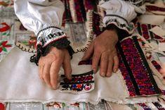 Traditional Romanian Coat Maker Dumitru Sofonea Entitled UNESCO's Living Human Treasure #rural #romania #villages #crafts #leathercraft