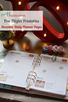MegsMadeIt: Free Printable For December Daily Planner Pages