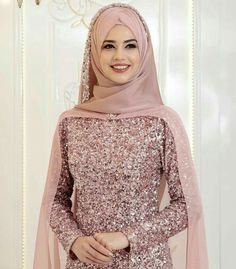 Elegant Makeover Looks – Jena Downs Muslimah Wedding Dress, Muslim Wedding Dresses, Muslim Dress, Bridal Dresses, Hijabi Wedding, Muslim Brides, Modern Hijab Fashion, Islamic Fashion, Abaya Fashion