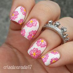 Nailpolis Museum of Nail Art   Cherry blossoms by Cristina Alvarado