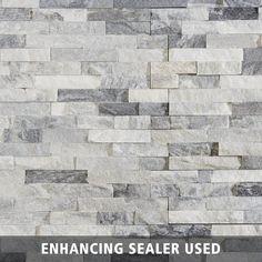 Harbor Gray Splitface Quartzite Panel Ledger - 6 x 24 - 100193457   Floor and Decor