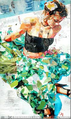 Absolutely dumbfounded by how he creates these masterpieces. So incredible. - Recycled Magazine Collage Art by Derek Gores