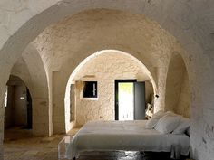 "Dry-stone huts with conical roofs in Puglia, Italy, called ""trulli"""
