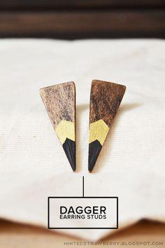 DIY Dagger Earring Studs Tutorial
