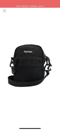 9aaedb2227d2 Supreme shoulder bag black ss17  fashion  clothing  shoes  accessories   mensaccessories  bags (ebay link)
