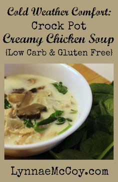 Crock Pot Creamy Chicken Soup Recipe. Perfect for a cold winter day!