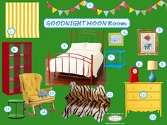 Inspired Whims: Goodnight Moon Inspired Room - SO cute!