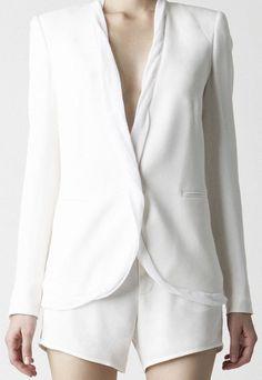 perfect white blazer. Helmet Lang S/S 11