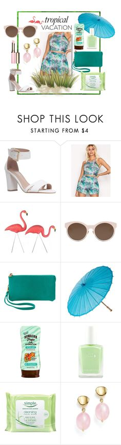 """The tropical experience"" by lineblue ❤ liked on Polyvore featuring Carvela, Christian Dior, Humble Chic, Hawaiian Tropic, Simple, Bloomingdale's, Clarins and TropicalVacation"