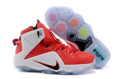f7a01654b9e38 Nike WMNS LeBron 12 GS Heart of a Lion University Red Sport Red White Black  Nike