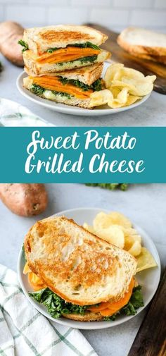 This sweet potato grilled cheese sandwich takes a basic sandwich to the next level! With creamy Gruyere cheese, slices of sweet potato, and a creamy aoili, this grilled cheese is an elevated classic!