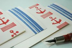 one can never have too many nautical notecards...