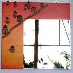 handmade Wall Mirror - Sunset Handmade Wall Mirrors, Handicraft, Objects, Sunset, Nature, Craft, Naturaleza, Gift Crafts, Sunsets