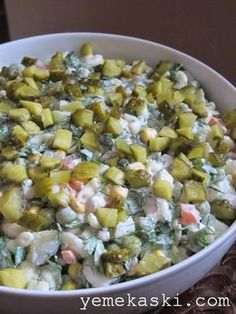 Sultan Salad - Food & Drink The Most Delicious Desserts – Culture Trip Turkish Salad, Roasted Eggplant Dip, Turkish Kitchen, Middle Eastern Recipes, Turkish Recipes, Diet Menu, No Cook Meals, Salad Recipes, Breakfast Recipes