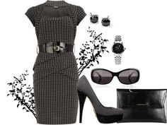 """Houndstooth"" by gailschurman on Polyvore"