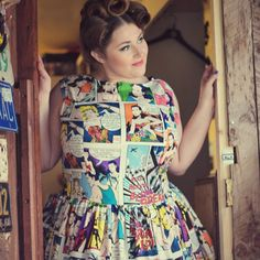 We have just two of these dresses left - 1 x size UK 18 and 1 x UK 28 because of this we have now reduced them to less than half price, just £50! Grab a bargain now: http://sillyoldseadog.com/product/1950s-style-cartoon-dress/