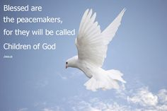 quotes bible blessed are the peacemakers - Google Search