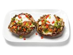 Cheese and Chile Stuffed Mushrooms
