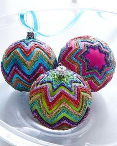 glitter on a ball