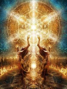 Archangel Michael ~ Ascending to The Fifth Dimension Psychedelic Art, Art Visionnaire, Psy Art, Mystique, Archangel Michael, Visionary Art, Sacred Art, Archetypes, Fractal Art