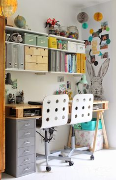 Schreibtisch idee f r das jugendzimmer arbeitszimmer for Zimmerdeko london