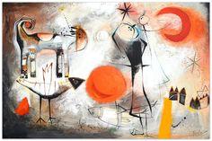 Tarde en la Meseta (Afternoon at the Meseta) schilderij, acryl, inkten en oliekrijt op canvas, original painting on canvas by Angeles Nieto Art Projects, Original Paintings, Ink, Canvas, Grandchildren, The Originals, Kunst, Tela, Canvases