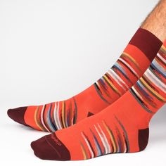 Idyllic Collection mens socks by Etiquette Clothiers - Made in Italy #luxurysocks #mensstyle #menssocks #madeinitaly #orangesocks
