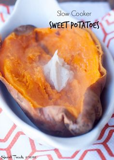 Slow Cooker Sweet Potatoes    Sweet Treats and More. Best and easiest way to cook sweet potatoes!