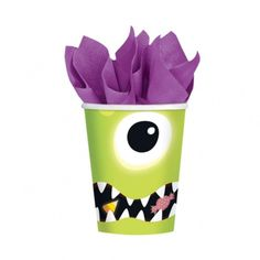 Amscan Boo Crew Monsters Paper Cups Green | Hobbycraft