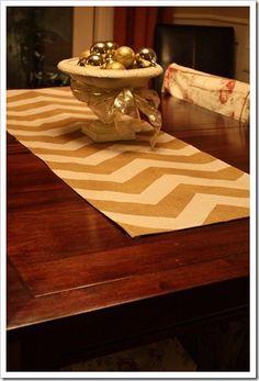 drop cloth table runner