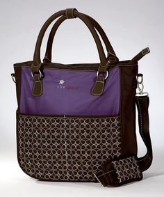 Mulberry & Espresso Sojourn Recycled Travel Tote