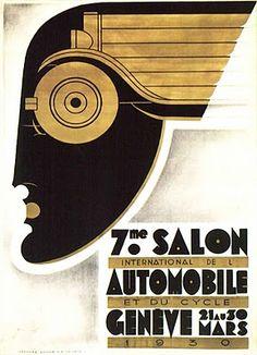 Captures Art Deco in poster design - 1930 - Art Deco Ad - Watsonette Art Nouveau, Poster Vintage, Vintage Art, Original Vintage, Moda Art Deco, Art Deco Illustration, Art Deco Posters, Car Posters, Art Deco Period