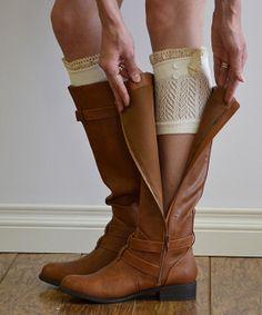 Chevron Lace Boot Cuff