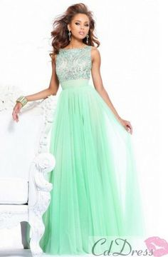 4. Prom Outfit: I think this dress is super cute. I think it's very appropriate and elegant. I believe with this dress a girl can do her hair any way she wants it. Also, I like the fact that the earrings and bracelet goes perfectly with the dress, and there's not too much of it.