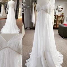 Ronee soft ivory lace by Rachel Lamb Design. Perfect for wedding or maternity bride. Designer Wedding Dresses, Boho Wedding, Real Weddings, Lamb, Maternity, Ivory, Bride, Fashion, Wedding Bride