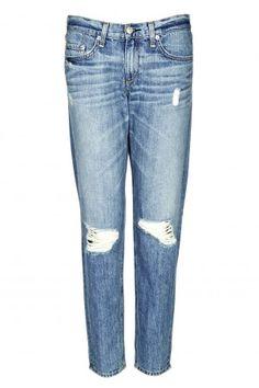 Moss Cropped Boyfriend Jeans - London-Boutiques.com #boyfriendjeans